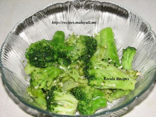 Steamed Broccoli and Garlic