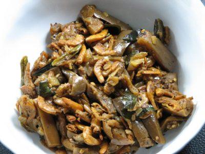 Brinjal Dried Shrimp Mezhkkupuratti « Kerala Recipes