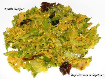 Snow Peas Thoran (Stir Fry with coconut) « Kerala Recipes
