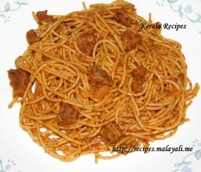 Sun Dried Tomatoes & Sausage Spaghetti « Kerala Recipes