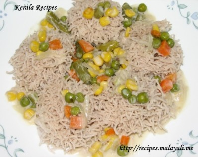 Idiyappam and Vegetable Stew