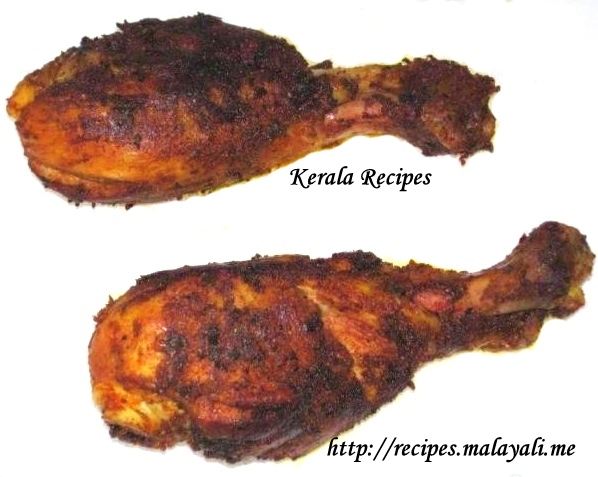 Kozhi Porichathu - Kerala Fried Chicken)