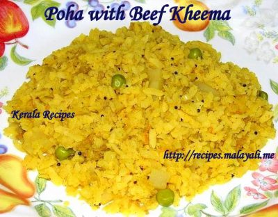 Poha with Kheema