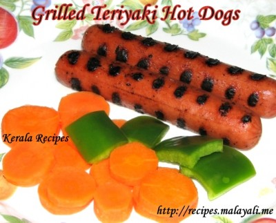 Grilled Teriyaki Hot Dogs