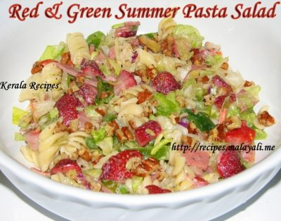Red & Green Summer Pasta Salad