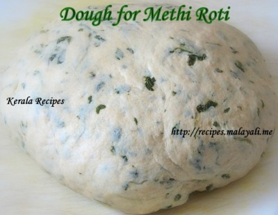 Dough for Methi Roti