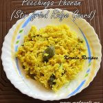 Peechinga Thoran (Stir fried Ridge Gourd)